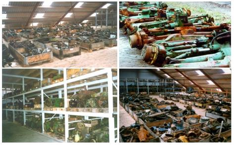 used dismantled salvage parts